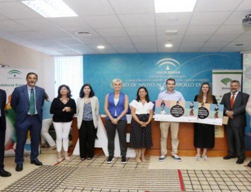 Unicaja Banco apoya los Premios Andalucía Emprende entregados en Cádiz a 'Verjim Animation Studio' y 'Omnium Lab'